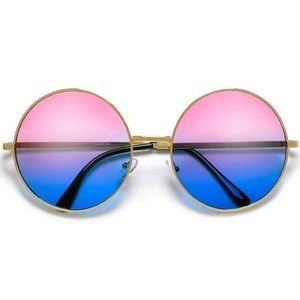 Accessories - Pink and blue circle sunglasses